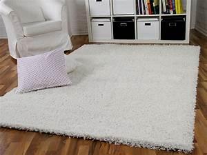 Hochflor Teppich Weiß : hochflor langflor shaggy teppich aloha wei teppiche ~ Lateststills.com Haus und Dekorationen
