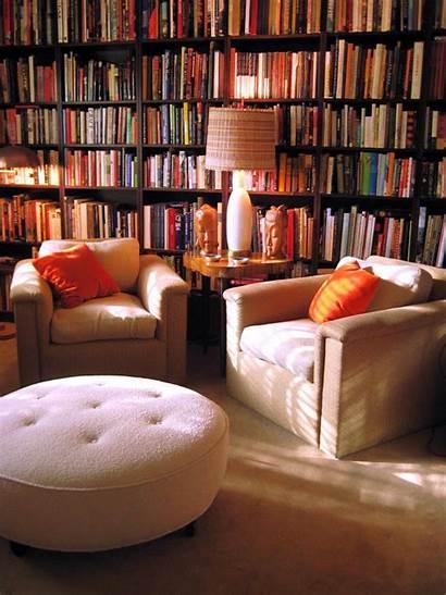 Library Books Chairs Bookshelf Rug Lamp Reading