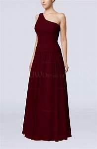 burgundy elegant sheath zipper chiffon floor length With burgundy dress for wedding guest