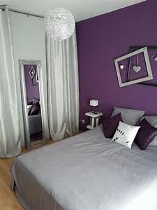 chambre parentale avec cadres imbriques au dessus du lit With chambre a coucher parentale