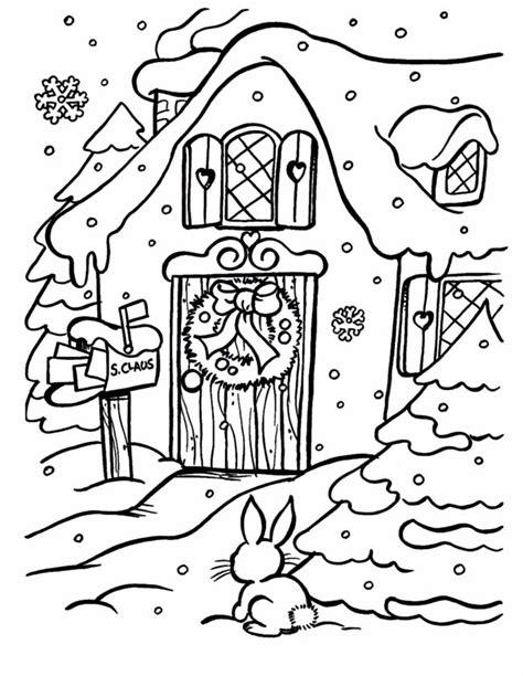 Iglo Huis Kleurplaat by Kleuren Nu Een Huis In De Sneeuw Kleurplaten