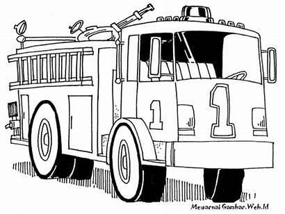 Gambar Pemadam Mobil Kebakaran Mewarnai Fire Truck