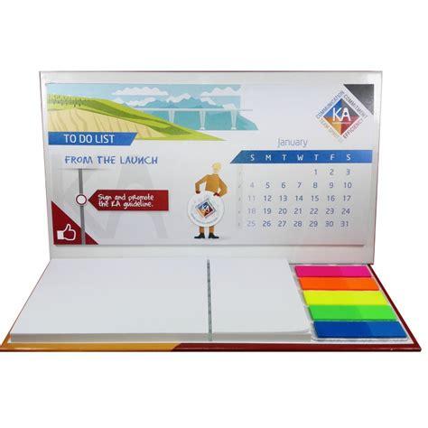 post it sur le bureau imprimez en ligne votre logo sur le calendrier de bureau