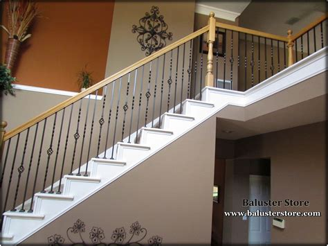 iron stair parts spindles balusters powder handrail quality baluster wood coated staircase stairs twist basket railing wrought balcony dallas balustrade