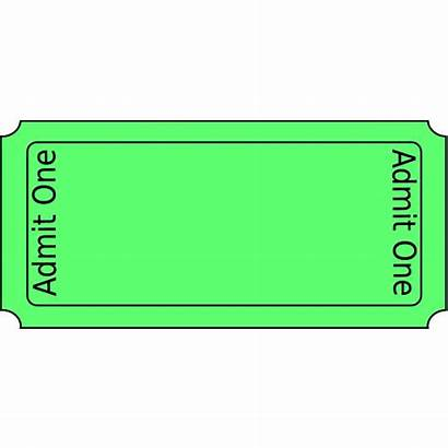 Ticket Clip Clipart Raffle Tickets Template Blank