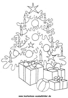 verschiedene ausmalbilder weihnachtsbaum