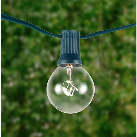 clear round bulb christmas lights clear 24 bulb green wire 25 39 holiday party string light