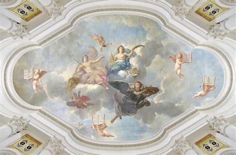europe style angel ceiling frescoes ceiling murals