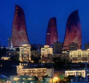 Flame Towers Baku Azerbaijan