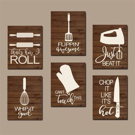 Kitchen Quotes Pictures by Kitchen Quote Wall Utensil Pictures Canvas Or