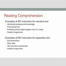 Ppt  Reading Comprehension Instruction Powerpoint Presentation Id2559400