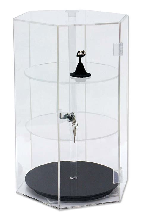 Showcase designs for corners are a great necessity in today's modern homes. Acrylic Revolving Countertop Showcase Jewelry Display