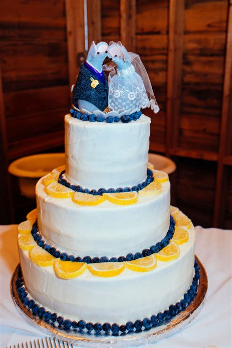 lemon  blueberry buttercream wedding cake