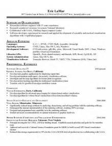 professional interests for resume cv professional interests