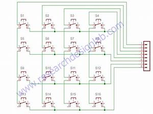 4x4 Matrix Keypad Pcb