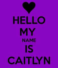 My Name Caitlyn Coloring Pages