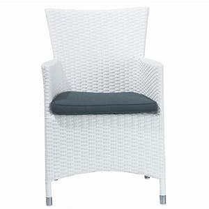 Fauteuil En Resine : fauteuil de jardin en r sine tress e blanc antibes maisons du monde ~ Teatrodelosmanantiales.com Idées de Décoration
