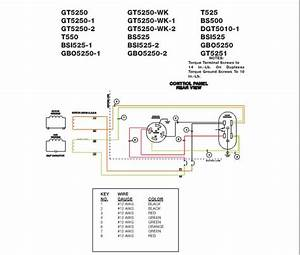 Wiring Diagram  For Model Gt5250