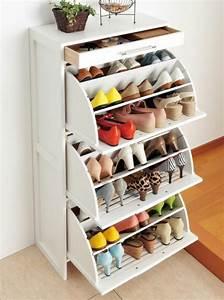 Meuble à Chaussures Original : designs d 39 armoire chaussure ~ Teatrodelosmanantiales.com Idées de Décoration