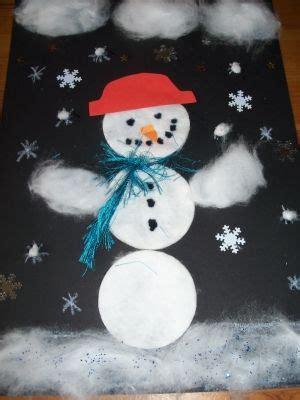 winter basteln mit kindern unter 3 bastelvorlage schneemann aus watte f 252 r kinder basteln mit watte im winter watte schneemann