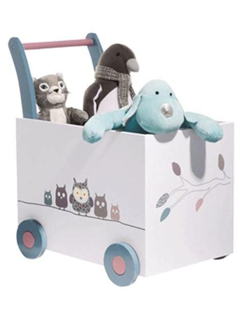 coffre a jouets bebe a roulettes hou le hibou vertbaudet acheter ce produit au meilleur prix