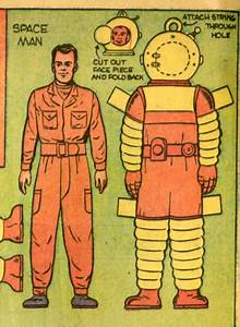 Saved From The Paper Drive: Space Man Paper Doll