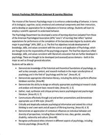 Forensic Psychology Resume Exles by Personal Statement Exles Clinical Psychology