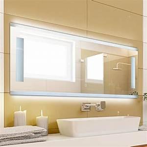 Einfacher Spiegel Ohne Rahmen : krollmann badspiegel mit beleuchtung modern ohne rahmen mit touch sensor beleuchtet mit ~ Bigdaddyawards.com Haus und Dekorationen