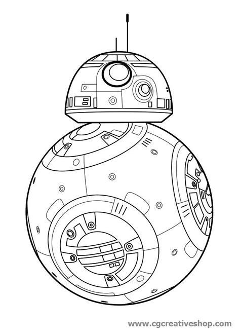disegni di robot da colorare robot bb 8 guerre stellari disegno da colorare