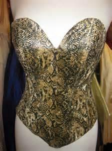 skin design belinda 39 s designs haute couture snake skin print corset