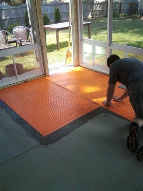 buzzletter installing tile floor   sun