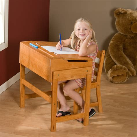 Schoolhouse Desk And Chair Set  Pecan  Kids Desks At. Desk Pedal Exerciser. Contemporary Table Lamp. How To Make A Lap Desk Pillow. Using A Mixing Desk. Flip And Doodle Easel Desk. Pool Table Ping Pong Top. Ncr Help Desk. Ladder Desks
