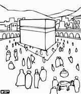 Coloring Pages Kaaba Kaba Colouring Sheets Makkah Saudi Arabia Muslim Ramadan Walking Drawing Islamic Building Islam Around Printable Cube Mecca sketch template