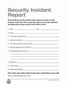 Sample Security Officer Incident Report School Security Checklist Storch 2013