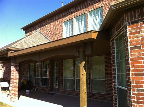 painted patio cover with shingles and fancy eaves allen