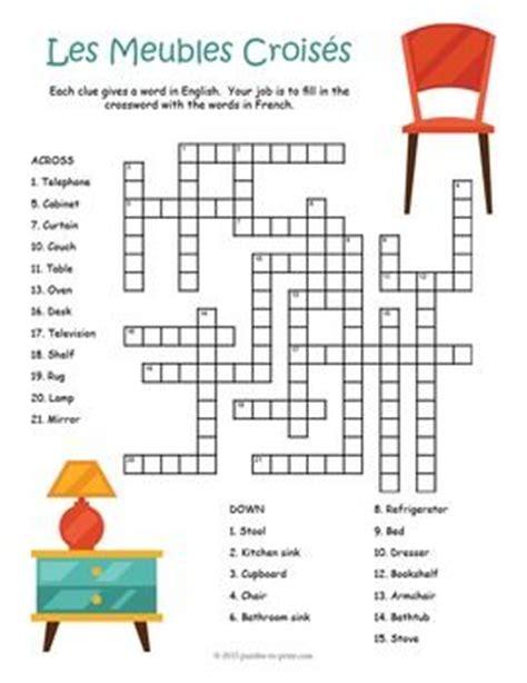 French Furniture Vocabulary Puzzle Bundle Les Meubles