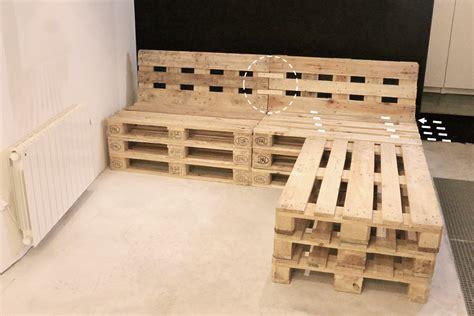faire un canapé avec des palettes fabriquer une banquette avec des palettes maison design