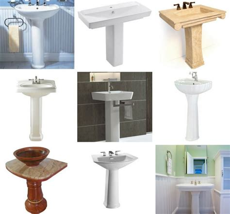 types of bathroom sinks 21 types of pedestal sinks buying and installation guide