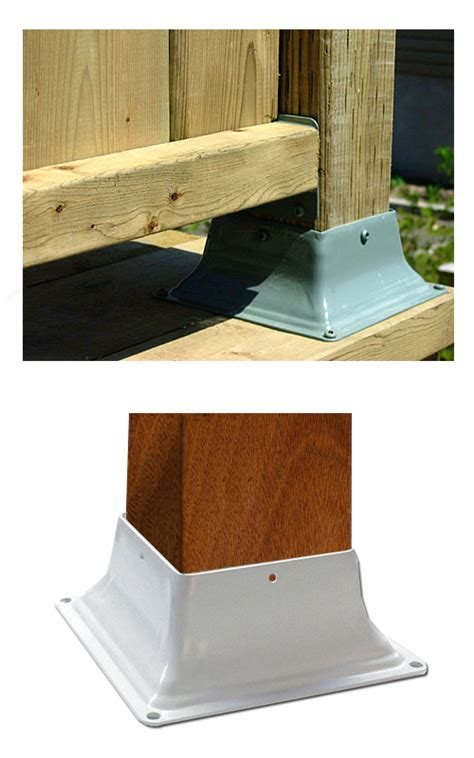 base 44 deck post base bracket cover 4x4 white color 25