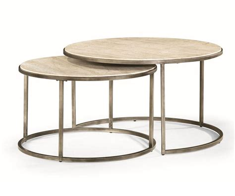 set of two table ls quasar set of two rnd cocktail nesting tables decorium