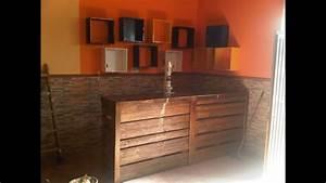 mueble bar hecho con pales