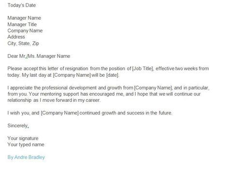 standard resignation letter ideas  pinterest