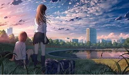 Anime Wallpapers Uniform Landscape 4k Scenery Park