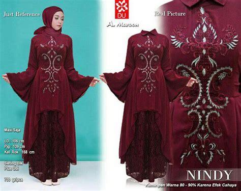 Cara Hamil Model Baju Lebaran 2018 Nindy Marun Model Baju Gamis Terbaru