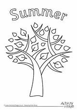 Colouring Summer Tree Pages Coloring Trees Activityvillage Leaves Sun Frame Lots Writing Colour Funfair Activities sketch template