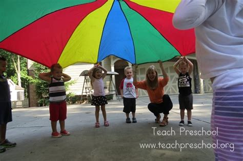 parachute basics the hello teach preschool 272 | Red Day and straws 1651