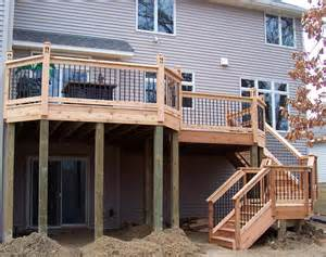 Two Story Deck Ideas by Best 25 Two Level Deck Ideas On Pinterest Deck Design
