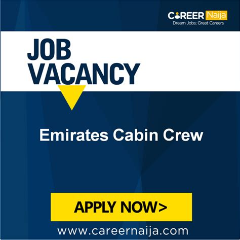 cabin crew opportunities emirates cabin crew opportunity vacancies nigeria
