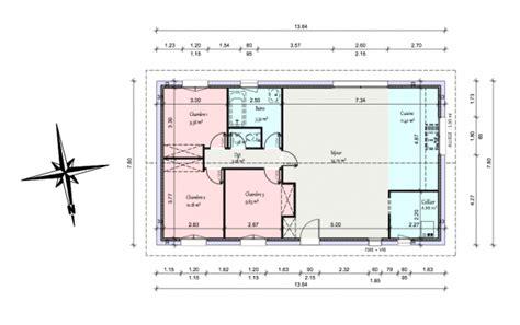 plan maison 90m2 3 chambres plan maison 5 chambres plain pied gratuit photo offre