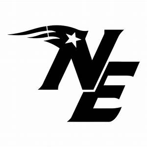 Black CAD CUT New England Patriots Alternate Logo 2000 ...